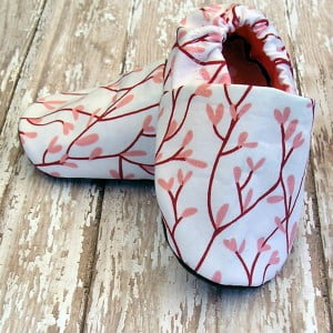 100% Organic Baby Shoes Coral