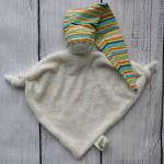 Organic Teething Doll Green Stripe