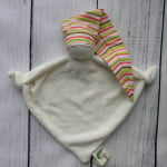 Organic Teething Doll Pink Stripe