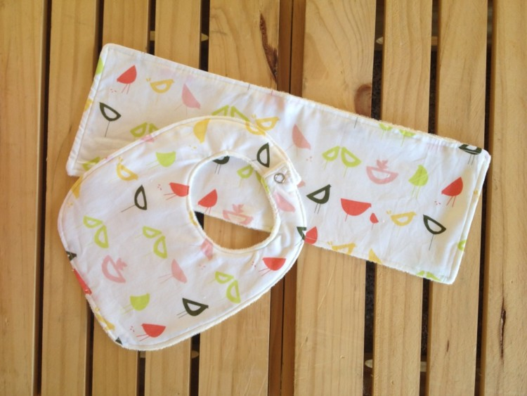 Organic Bib & Burp Cloth Set Pink