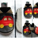 Leather Baby Shoes prewalkers Car