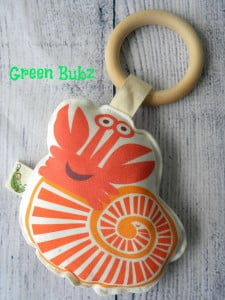 Organic Crab Rattle Baby Toy