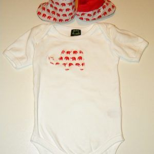 Red Elephant Baby Unisex Boots & Matching Onesie