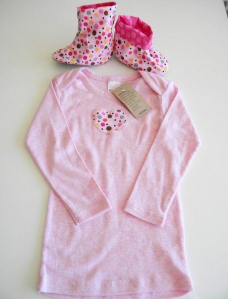 Pink Baby Shoes Boots onesie shirt