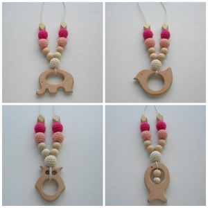 Wooden Nursing Necklace Breast
