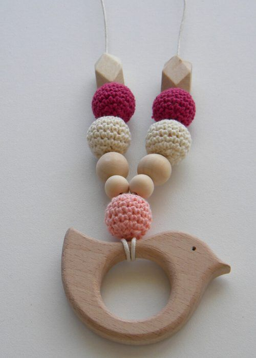 Wooden Nursing Necklace Breastfeeding Teething