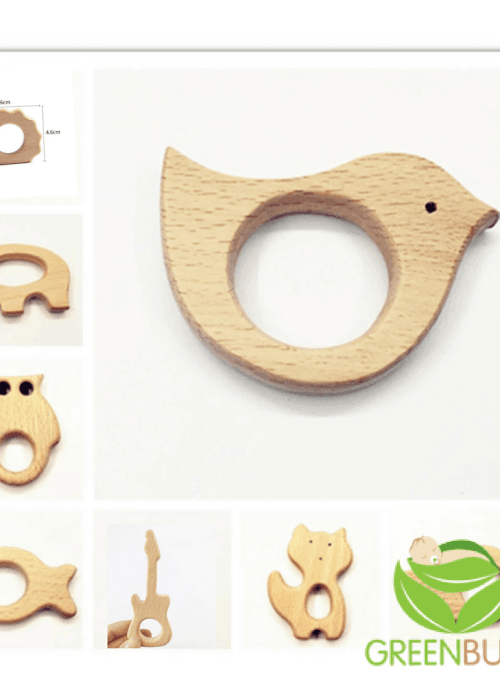 Wooden Teething Toy Attachments
