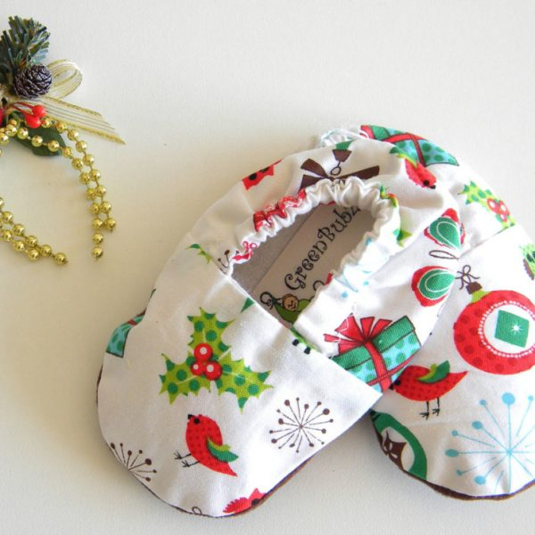 Christmas Baby Booties Soft Sole Shoes
