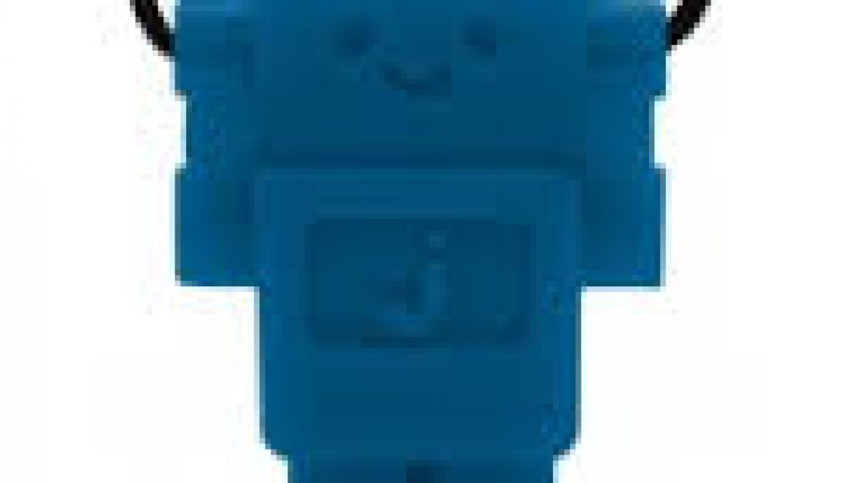 JellyStone Designs Junior Robot Pendant Blue