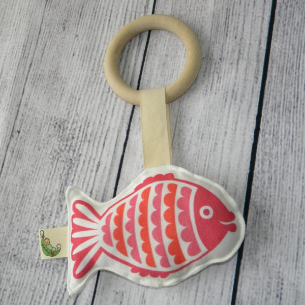 Organic Retro Fish Teething Toy