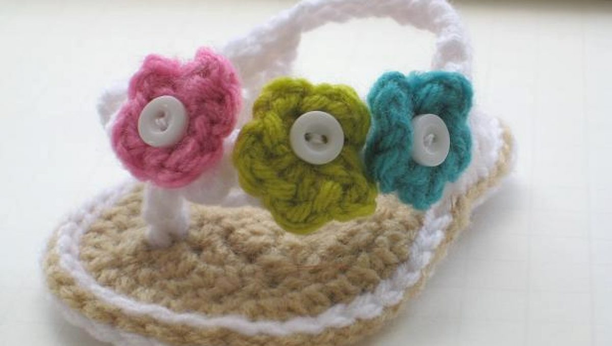 Baby Crochet Flower Sandals BLUE