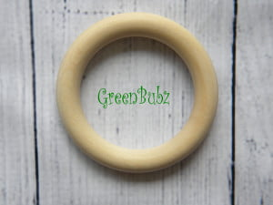 Organic MapleMaple Wood Teething Rings Organic natural eco toys Wood Teething Rings