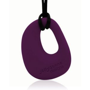 Jellystone Designs Nursing Necklace Pendant Eggplant