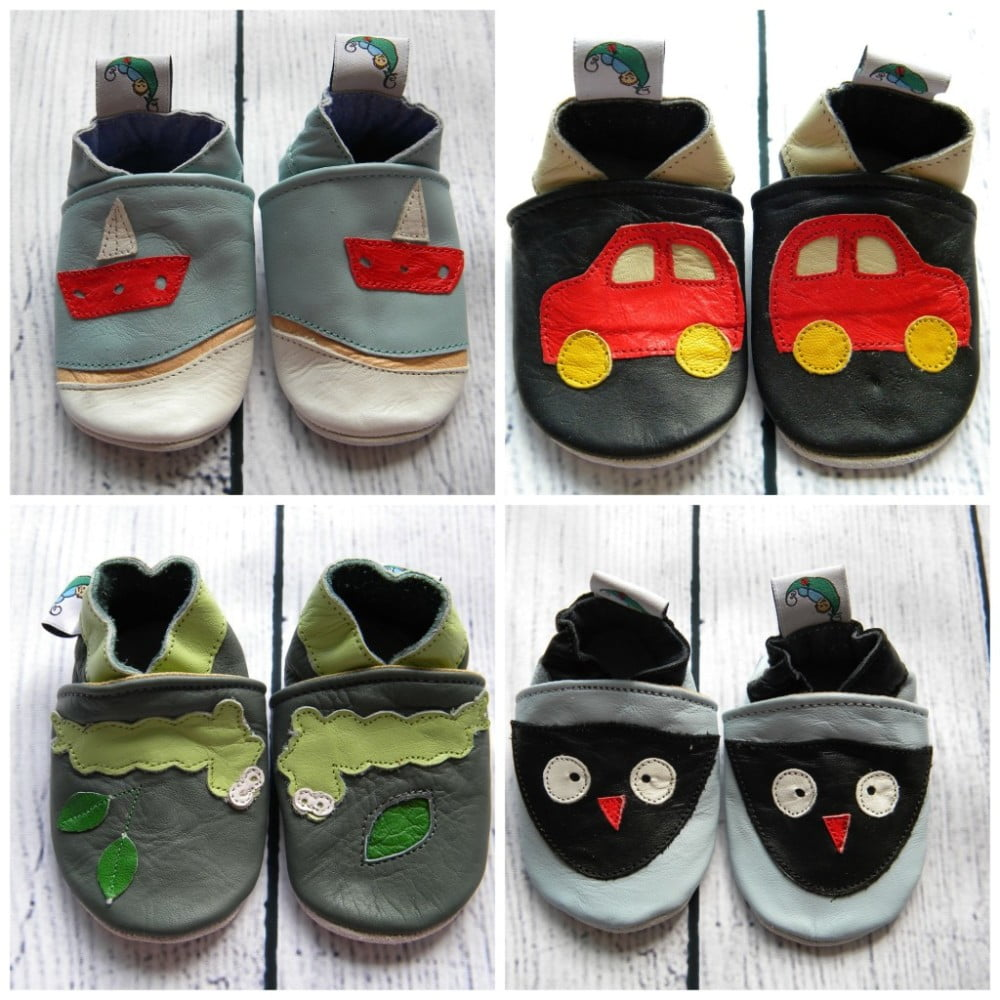 Leather Baby Soft Sole Shoes Boys - Green Bubz 22a0c9302