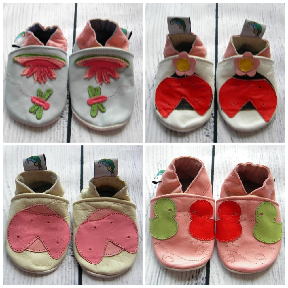 Leather Soft Sole Baby Shoes Girls - Green Bubz 72adc5852