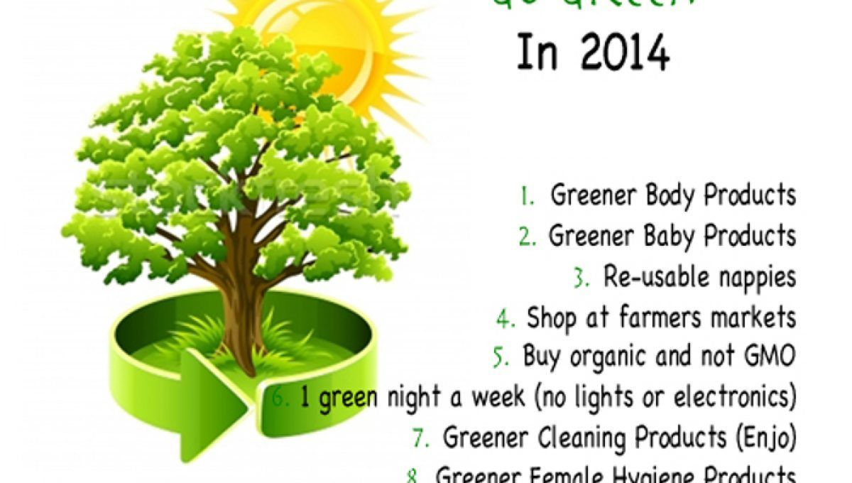 10 Tips To Go Green this year