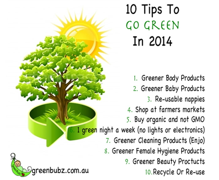 10 Tips To Go Green In 2014