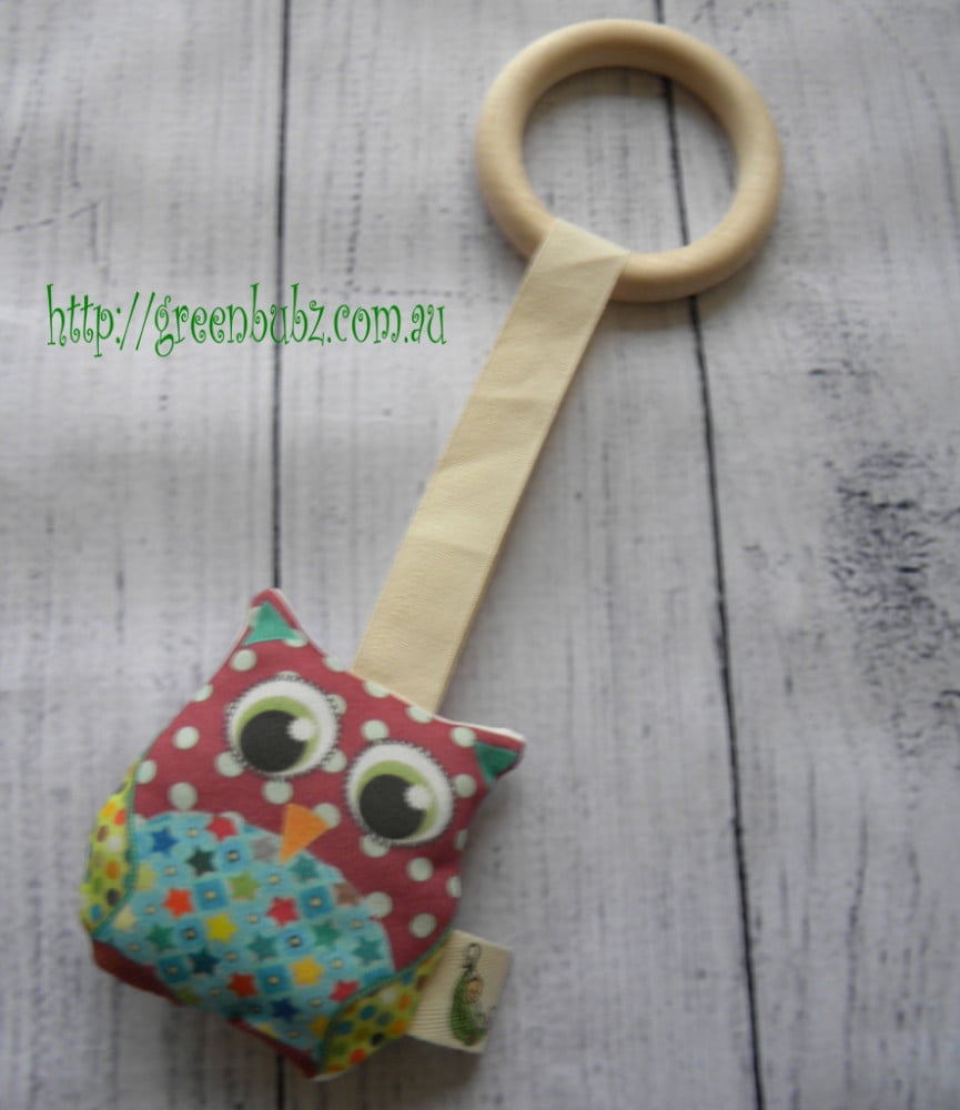 Organic Owl Teething Ring Boy