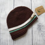 Boys Brown Crochet Beanie