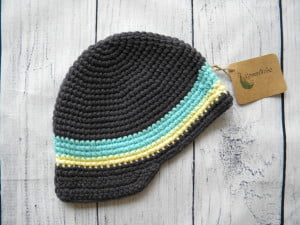 Boys Grey Crochet Beanie