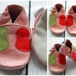 Leather Soft Sole Baby Shoes Prewalkers Bird