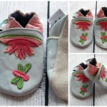 Leather Soft Sole Baby Shoes Prewalkers Flower