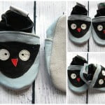 Soft sole baby shoes prewalkers Owl