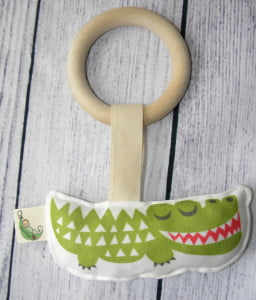 Organic Crocodile Teething Baby Toy