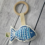 Organic Blue Fish Toy