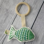 Organic Green Fish Toy