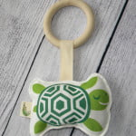 Organic Turtle Baby Teething Toy