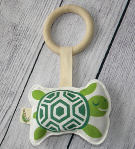 Organic Turtle Teething Baby Toy