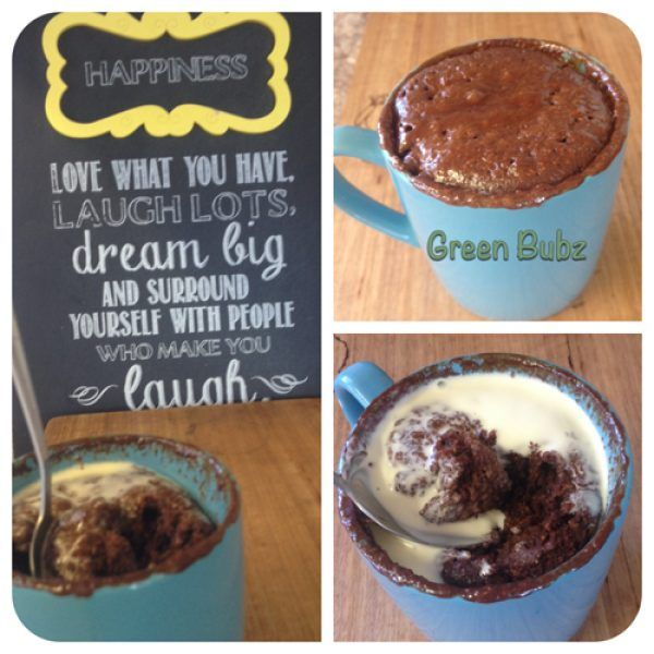 Clean chocolate mug cake