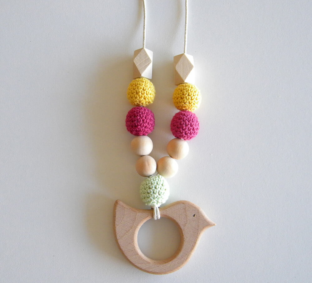 Wooden Breastfeeding Teething Nursing Necklace Multi