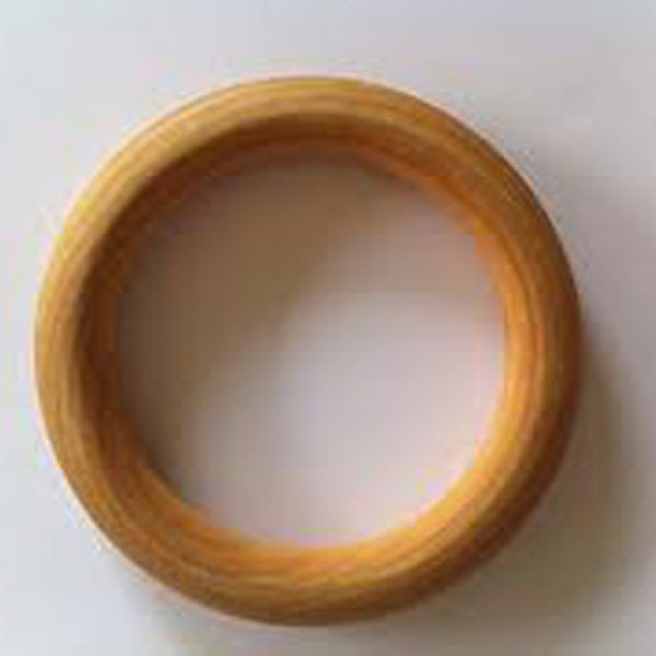 Large Maple Teething Ring Wooden
