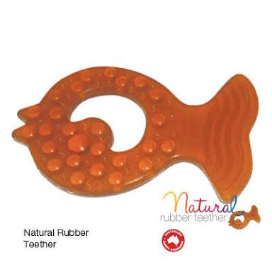 Natural Rubber Fish Teether Twin Pack