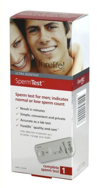 Forelife sperm fertility home test kit