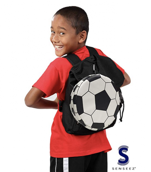 Senseez vibrating sensory kid calming soccer cushion